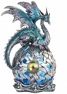 StealStreet SS-G-71512 8.25-Inch Dragon on Large Light up Led Orb Statue ... New