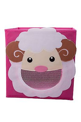 Smiling Sheep Collapsible Toy Storage Box and Closet Organizer for Kids New