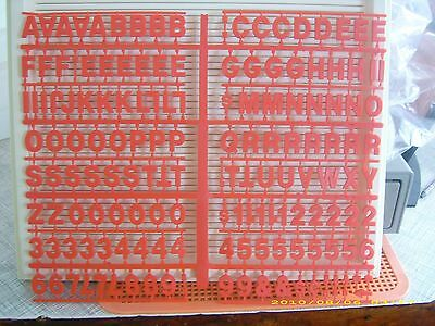 "3/4"" Coca-Cola Menu Board red Letters,Numbers & Symbols set!."