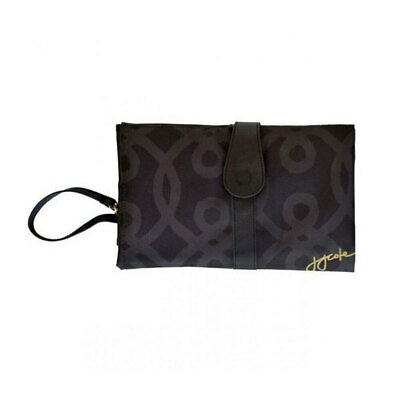 Black/Gold Baby Nappy/Diaper Changing/Change Clutch/Mat/Foldable Wallet/Bag