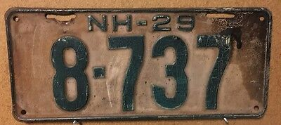 NEW HAMPSHIRE 1929 License Plate