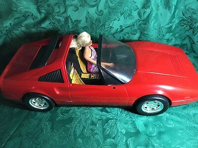 VINTAGE MATTEL BARBIE RED FERRARI CAR 328GTS 1986 VGC - W 1 -Dolls - RARE