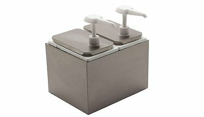 Carlisle Standard Food Service Topping Condiment Dispenser Two Pumps And Jars