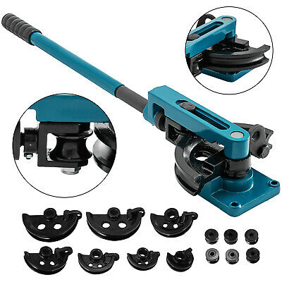 """Hot Hand Operated Tubing Pipe Bender w/ Round Tube Dies 3/8""""-1"""""""