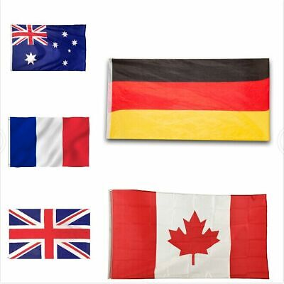 NEW France Germany Canada UK Australia USA World Country National Polyester Flag