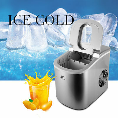 Portable Countertop Ice Maker Compact Ice Cube MachineTouch Control 26 lbs. /day