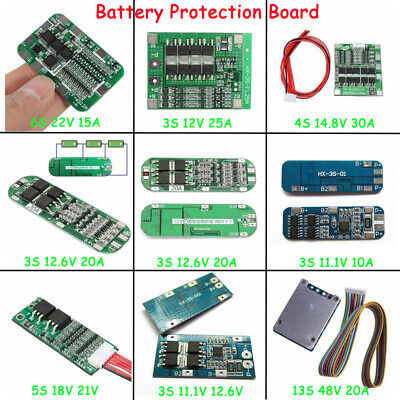 10-100A BMS Charger Protection Board 3/4/5/6S 18650 Li-ion lithium Battery Cell