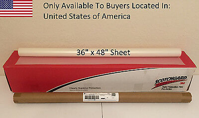 "3M Scotchgard PRO Series Paint Protection Film Clear Bra 36"" x 48"" Sheet"
