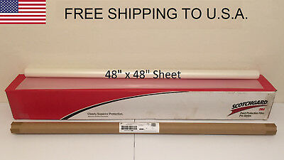 "3M Scotchgard PRO Series Paint Protection Film Clear Bra 48"" x 48"" Sheet"