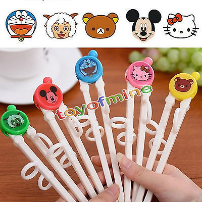 Training Chopsticks Helper Kids Baby Lovely Cute Cartoon Flatware Tablewar