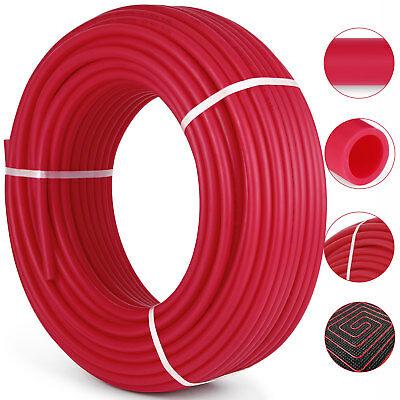 "1/2""x300ft Pex Tubing Oxygen Barrier EVOH Pex-B Red Radiant Floor Heat New"