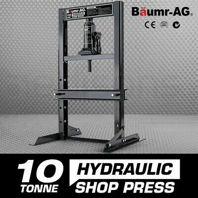 New BAUMR-AG 10 Tonne Hydraulic Shop Press Workshop Jack Bending Stand H-Frame