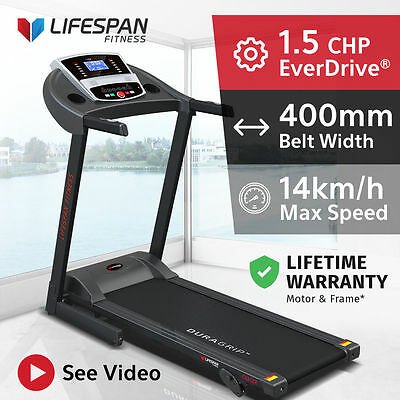 Lifespan Fitness New Electric Treadmill Quiet EverDrive® Motor w/ iPad Stand