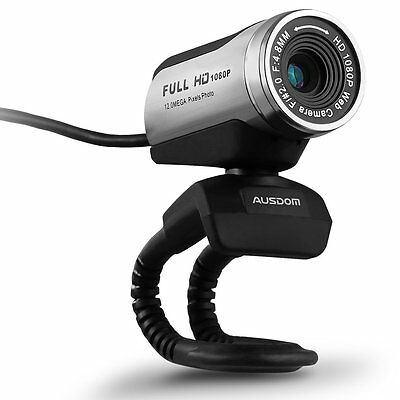 HD Webcam, Ausdom Full HD 1080P/30fps Web Camera AW615 USB Interface with Video