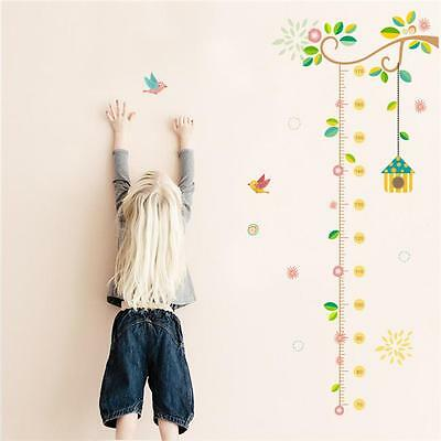 Hot Child Height Decor Kids Room Growth Chart Measure Wall Sticker Animal Decal