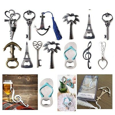 Different Types Beer Bottle Opener Bar Beer Corkscrew Wedding Beach Party Favors