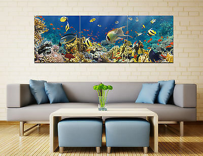 """Abstract Wall Decor Art Oil Painting on Canvas NO frame 16"""" Underwater World 123"""