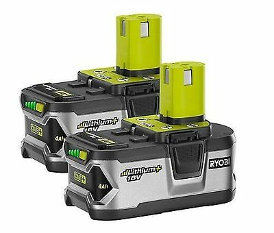 2 Pcs Ryobi P108 4Ah 18V One+ Li-Ion Cordless Tool Battery Packs W/F Fuel Gauge