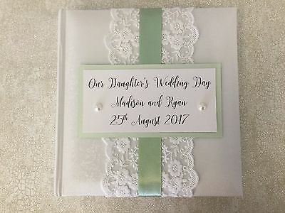Personalised Daughter/Son Wedding Album Gift Colour Choices