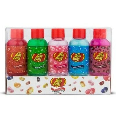 Jelly Belly 5 Pieces Mini Travel Day Set Bath & Shower Gel 5 x 50 ml Gift Set
