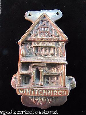 Antique Bronze WHITCHURCH Door Knocker small figural interior architectural hdwr