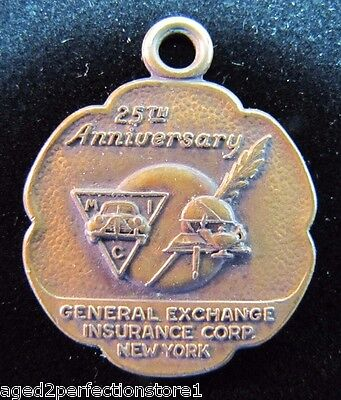Old MIC General Exch Insurance Corp Medallion Medal Fob old auto ins co adv GMAC
