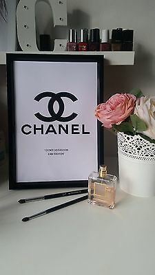 Chanel logo fashion beauty make up poster quote wall art decor picture print