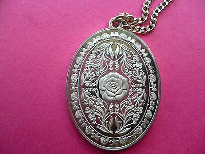 Franklin Mint Silver Pendant On Chain