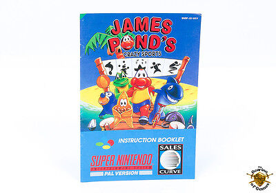 James Pond's Crazy Sports - Super Nintendo SNES Booklet / Manual