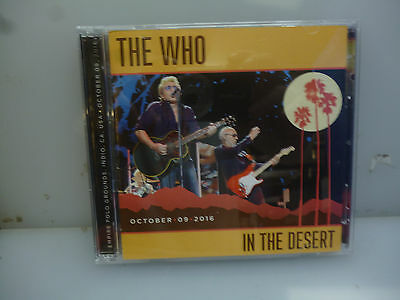 The Who-In The Desert. Indio, Ca, Usa 9 October, 2016.-2Cd-New.sealed.