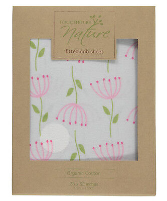 "Touched by Nature Organic Cotton Fitted Crib Sheet (28"" x 52"")"