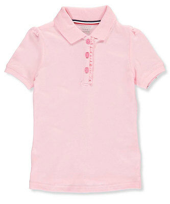 French Toast Little Girls' S/S Ruffle Pique Polo (Sizes 4 - 6X)
