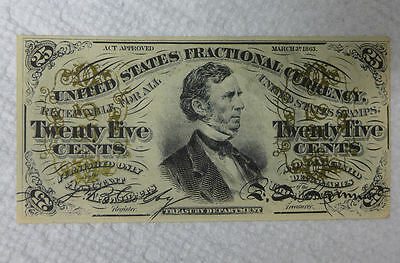 United States 25 Cents Fractional Currency 1863 F-1294 ?