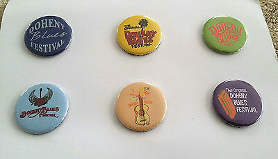 Doheny Blues Music Festival Pin Pinback Button (Set 0f 6) Dana Point CA NOS