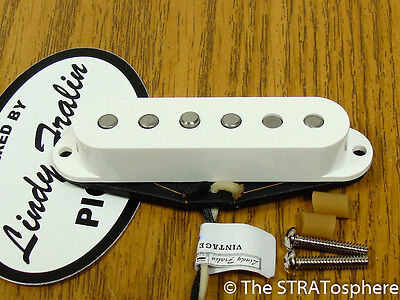 NEW Lindy Fralin Strat Vintage Hot Mid PICKUP White for Fender Stratocaster