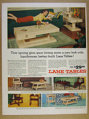 1954 Lane Modern Cocktail Coffee End Tables mcm mid-century vintage print Ad