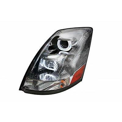 Volvo VNL Chrome Projection Headlight With LED Bar Driver Side 2004+