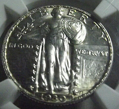 1930 FULL HEAD Standing Liberty Quarter 25c NGC MS63 FH GREAT LUSTER WHITE NICE