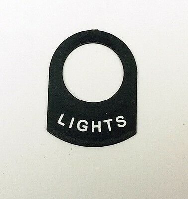 Land Rover Series LUCAS LIGHTS SWITCH TAG legend