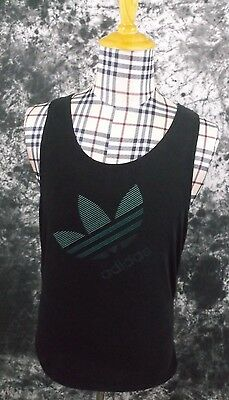 adult S Adidas Vintage black tank top made in USA