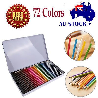 72 Colors Art Supply Watercolor Non-toxic Pencil Set For Artist Sketch Paniting