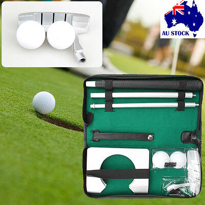 Golf Putting Practice Kit Ball Putter Travel Training Portable Indoor Outdoor