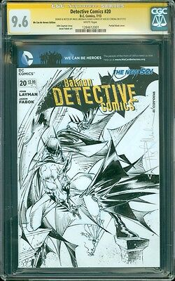 Detective Comics #20 CGC SS 9.6 Blank Sketch Cover Batman Robin by Angel Medina