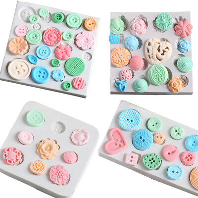 Buttons Silicone Fondant Mould Cake Mold Chocolate Baking Sugarcraft Decorating