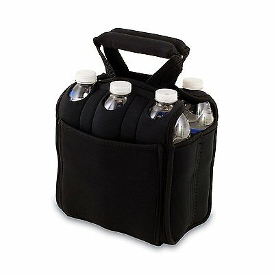 Picnic Time 'Six Pack' Insulated Beverage Tote, Black