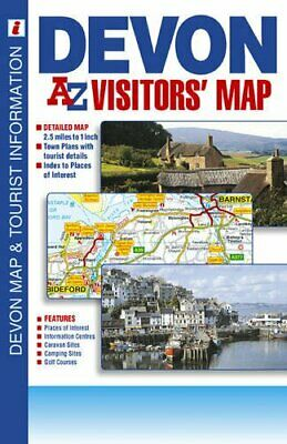 Devon Visitors' Map (A-Z Visitors M... by Geographers A-Z Map  Sheet map, folded