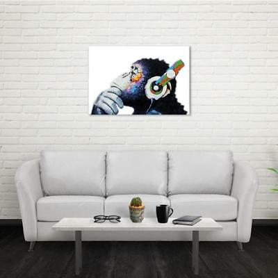 NO Framed MODERN ABSTRACT WALL ART OIL PAINTING ON CANVAS Monkey NEW - 8C