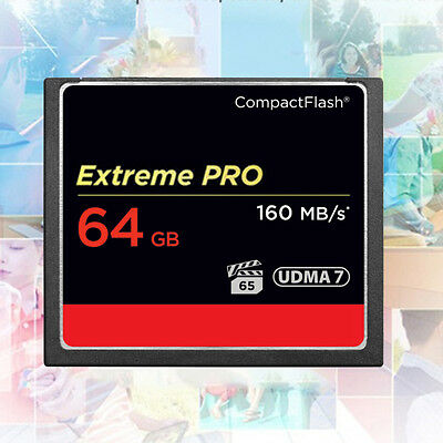 For Camera UDMA7 64GB New 160MB/S Compact Flash Super Speed CF Momery Card #