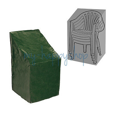 Green PVC Patio Stacking Chair Stacked Chairs Cover Weatherproof Outdoor Garden