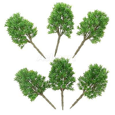 6pcs DIY Painted Model Trees Train Landscape Scenery Accessory 1:30 G Scale
